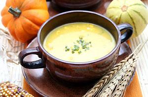 Овсяный суп-пюре с тыквой