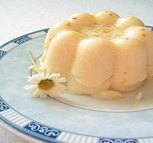 Творожное желе с яблоками и грушами
