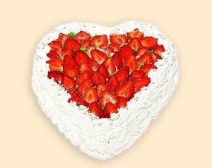 Слоённый пирог Valentine's Red Heart