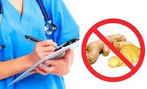 Противопоказания к использованию имбиря для похудения